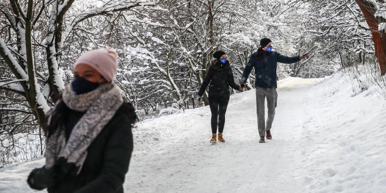 Snowy Winter In Krakow, Poland