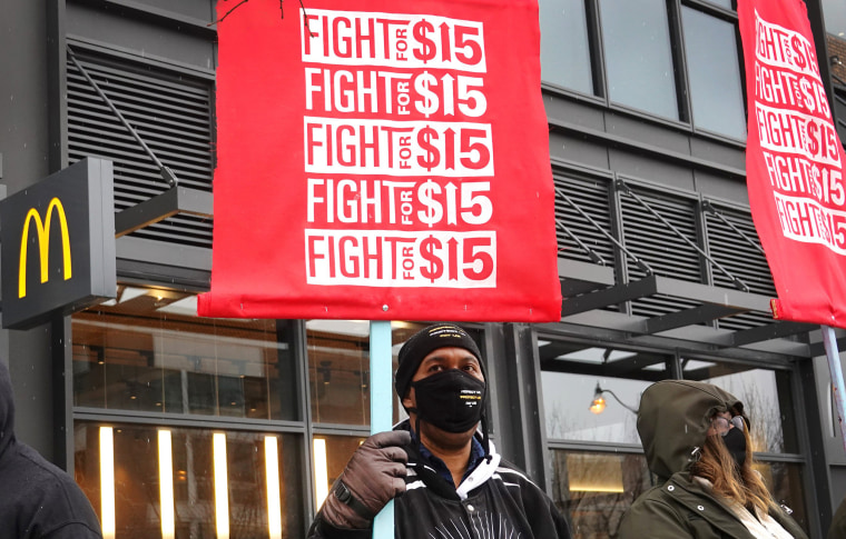 Image: Fast Food Workers Demonstrate Nationwide For Better Pay