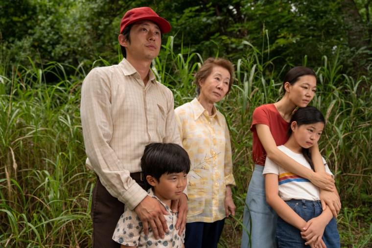 IMAGE: Steven Yeun, Alan S. Kim, Yuh-Jung Youn, Yeri Han and Noel Cho in 'Minari'