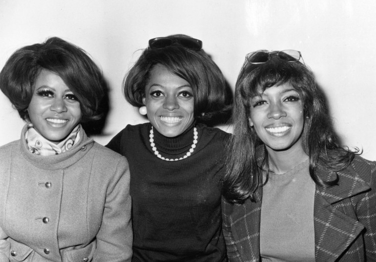 Image: American Motown pop vocal trio The Supremes in 1968. From left, Cindy Birdsong, Diana Ross and Mary Wilson.