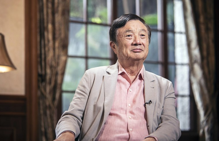 Image:Ren Zhengfei, founder and chief executive officer of Huawei Technologies Co., listens during an interview at the company's headquarters in Shenzhen, China.