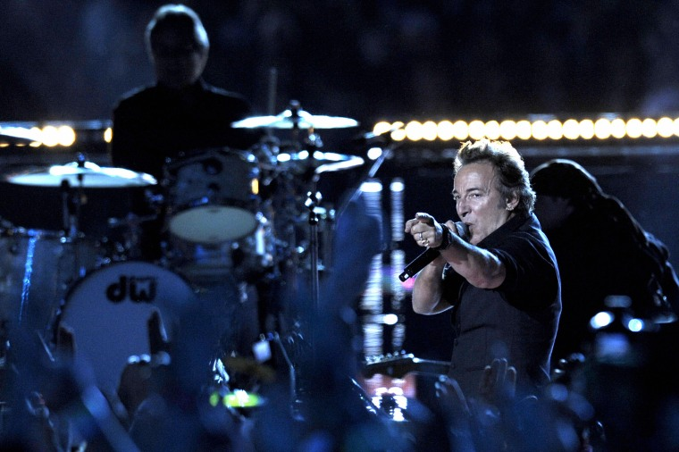 US singer Bruce Sprinsteen performs duri