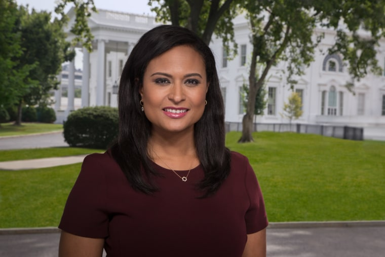 "Kristen Welker, chief White House correspondent for NBC News and co-anchor of ""Weekend TODAY."""