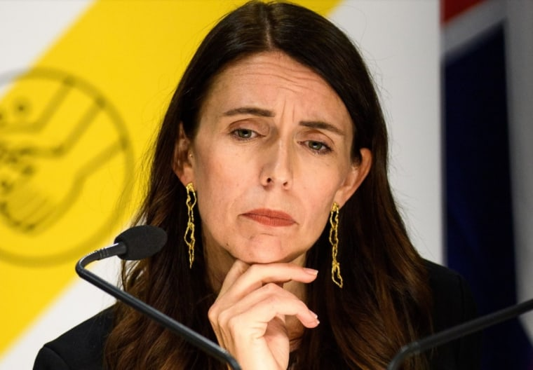 Prime Minister Jacinda Ardern at a news conference in the city of Wellington earlier this month.
