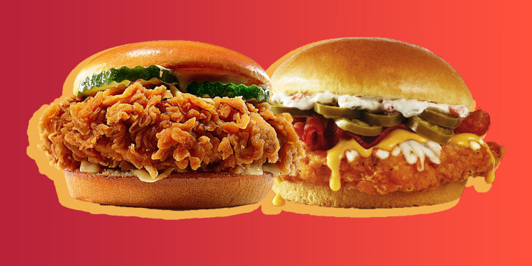 The chicken sandwich wars heat up as both Wendy's and Burger King announce new menu items.
