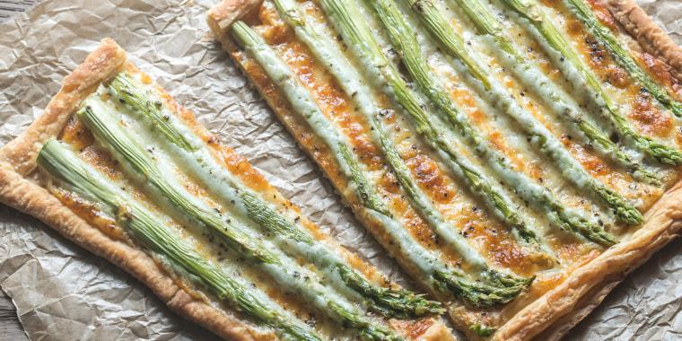 Asparagus tart