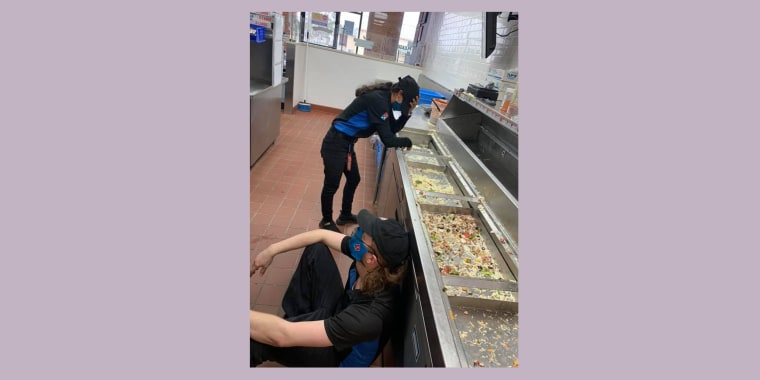 """""""This is what it looks like when we've worked our hardest,"""" wrote employee July DeLuna in the photo's caption."""