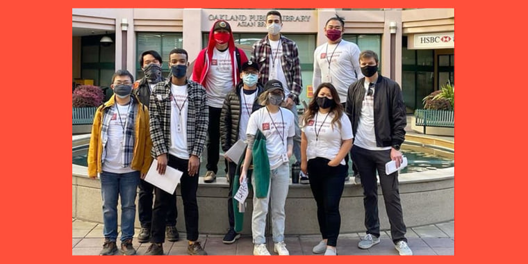 Compassion in Oakland, a group founded by Latino activist Jacob Azevedo, has more than 300 volunteers to escort fearful elders on walks and errands around the neighborhood.