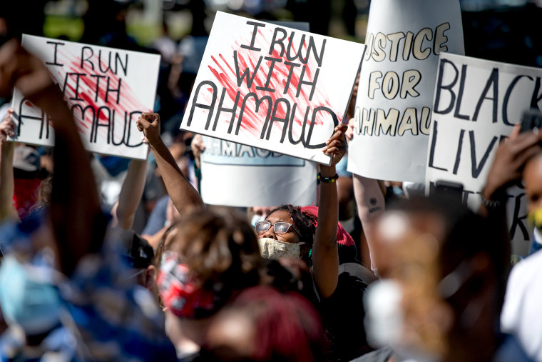 Image: Georgia NAACP Holds Protest For Shooting Death Of Jogger Ahmaud Arbery