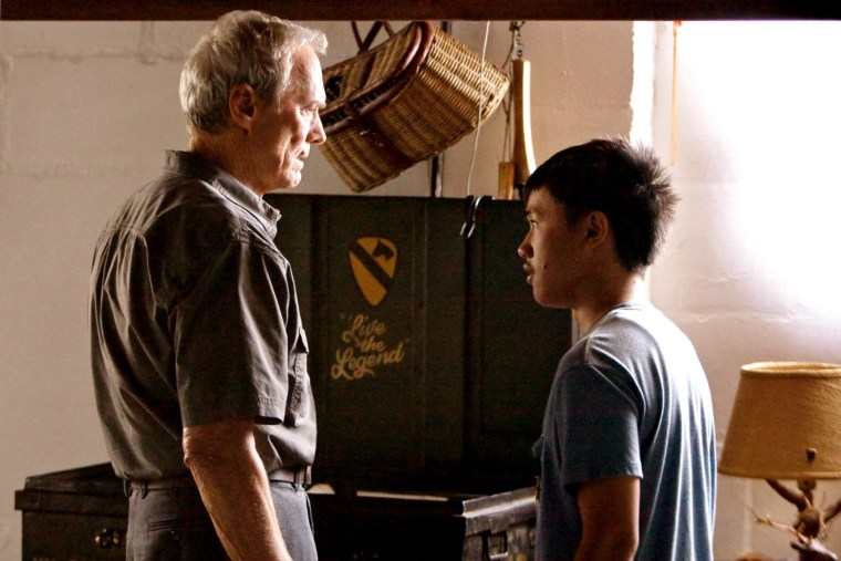 GRAN TORINO, from left: Clint Eastwood, Bee Vang, 2008. (C)Warner Bros./Courtesy Everett Collection