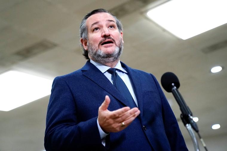 Image: Sen. Ted Cruz, R-Texas, at the  Capitol