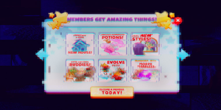 Image: Illustration shows a glitchy, pixelated Prodigy Math App asking users to join for perks.