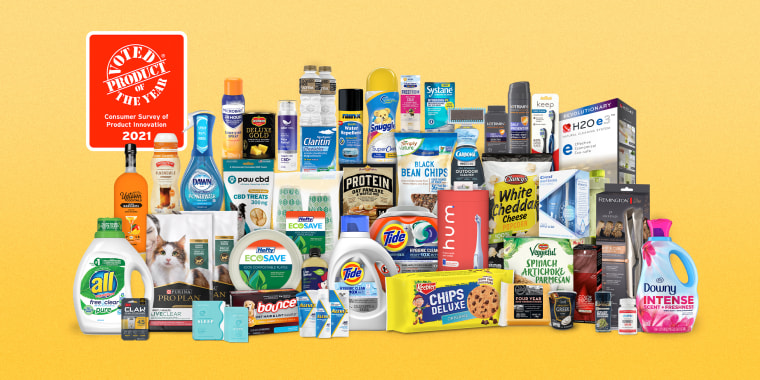 """Image: Various products voted \""""Product of the Year.\"""""""