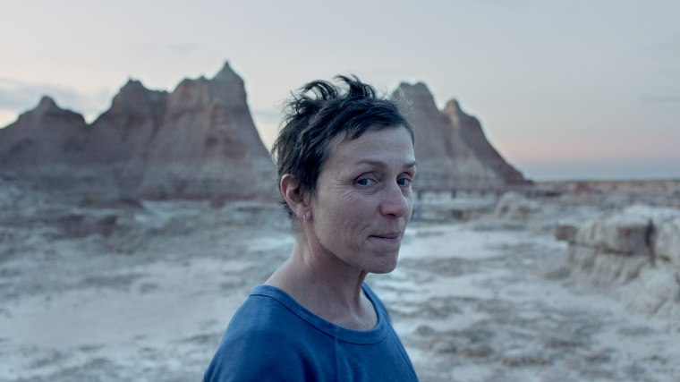 "Frances McDormand in the film ""Nomadland."""