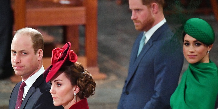 Prince William, Duke of Cambridge, Catherine, Duchess of Cambridge, Prince Harry and Meghan