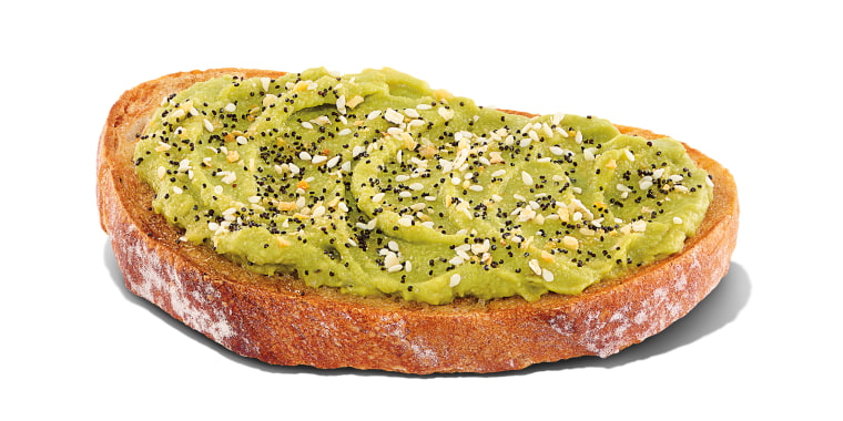 This avocado toast captures three trends in one: avocado toast, sourdough and everything bagel seasoning.