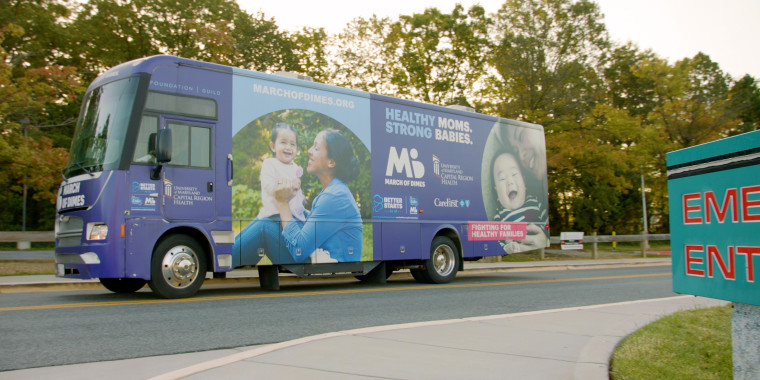 The mobile unit out in Washington, D.C., where it serves women who do not otherwise have access to prenatal care.