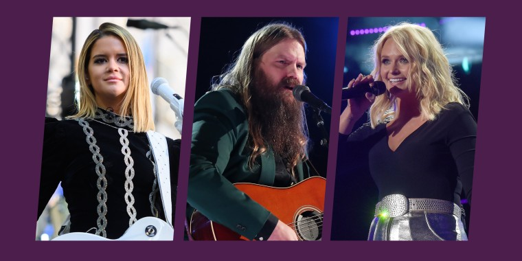 Maren Morris and Chris Stapleton lead the nominees with six nods apiece, while Miranda Lambert received five.