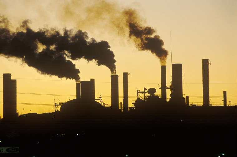 Image: Factory at sunset in Cleveland, Ohio