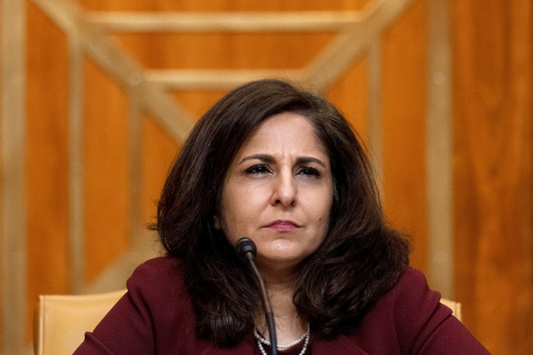 Image: Senate panel holds hearing on Biden budget nominee Neera Tanden