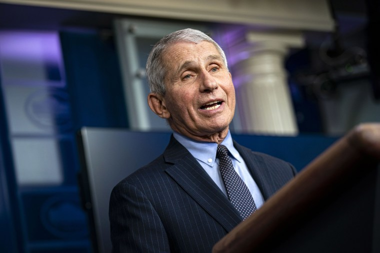 Image: Anthony Fauci, director of the National Institute of Allergy and Infectious Diseases, speaks during a news conference at the White House.