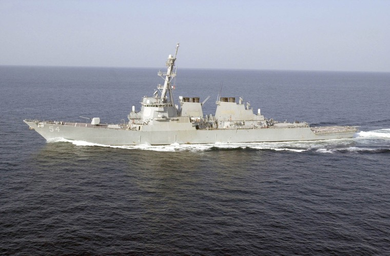 Image: The Aegis-class destroyer USS Curtis Wilbur (DDG 54) is deployed in support of Operation Enduring Freedom.
