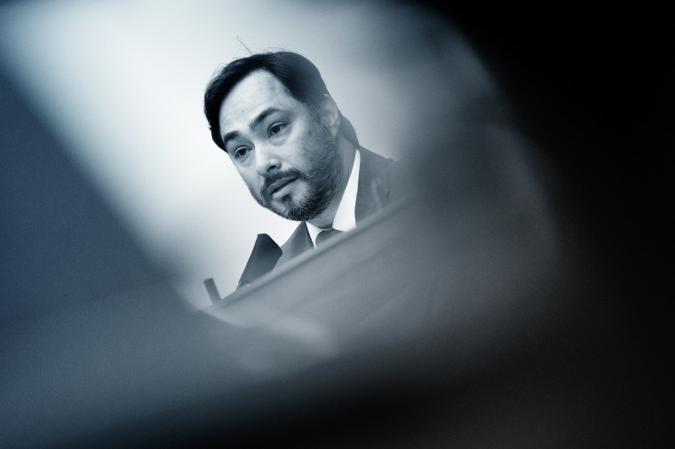 Image: Rep. Joaquin Castro, D-Texas., during a hearing at the Capitol on Sept. 16, 2020.