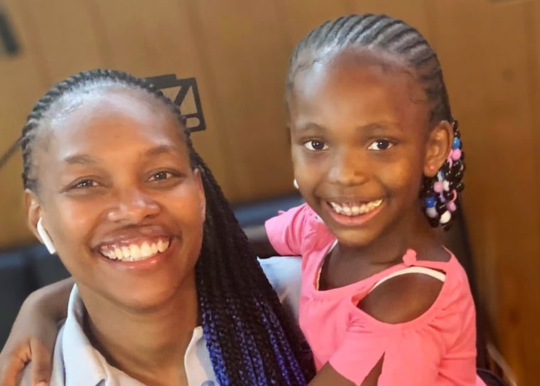 Image: JoAnn Hargrove had to stop working full time to help her 7-year-old daughter with virtual learning.