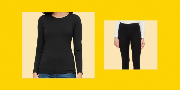 Uniqlo top and leggings. Uniqlo's HeatTech collection is a winter must have in 2021. Shop the Uniqlo HeatTech tops and leggings to keep you warm all winter long.