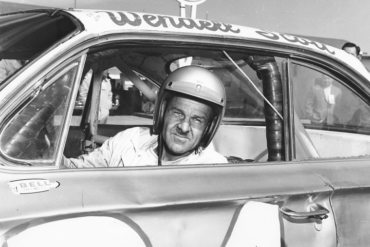 Wendell Scott in his car as he became the first African-American driver to win in the NASCAR Cup division with a victory in 1963 at Jacksonville Speedway Park in Jacksonville, Fla.