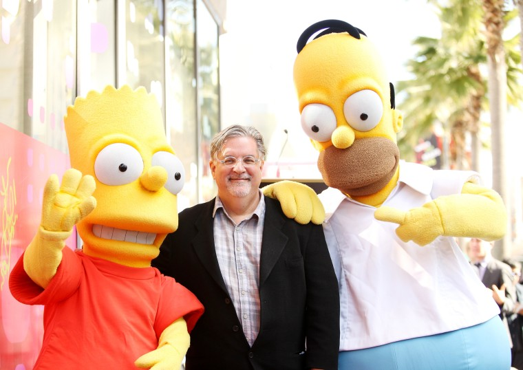 """Image: Matt Groening Celebrates 500th Episode Of """"The Simpsons"""" With Star On The Hollywood Walk Of Fame"""