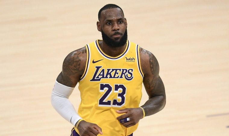 Image: LeBron James at the Staples Center