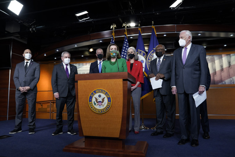 Image: Nancy Pelosi and House Democrats Hold Press Conference On American Rescue Plan Act