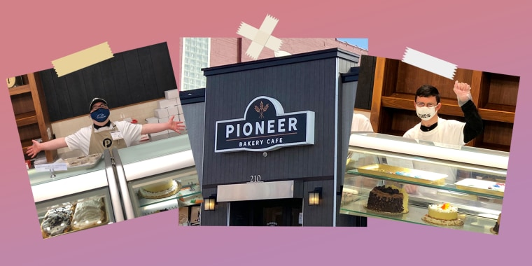 """In less than six months, Derek Baker said, """"It changed my life. … I'm really, really thankful. Having Pioneer is really amazing."""""""