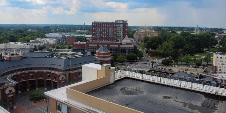 Skyline view of Virginia Commonwealth University in Richmond Virginia