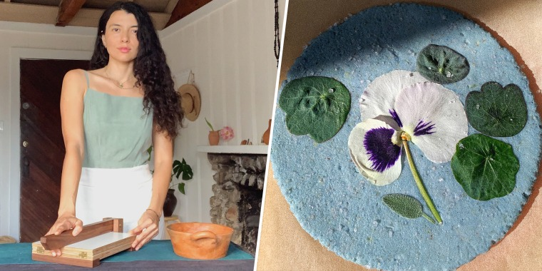 This young woman pays homage to her Indigenous roots with beautiful flower-pressed tortillas