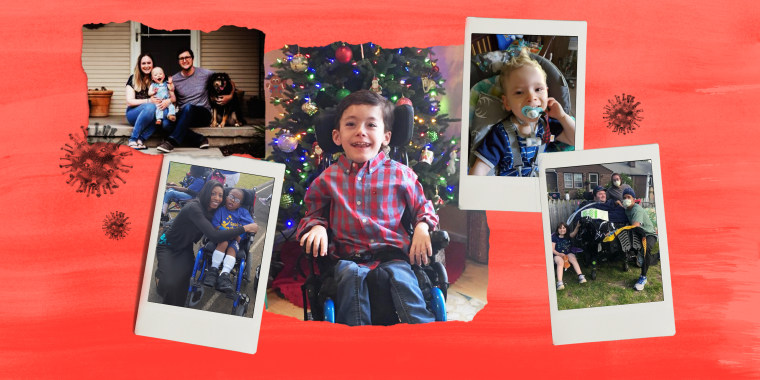 Collage of photos of kids with disabilities