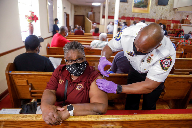 Image: COVID-19 vaccinations are held at the historic Greater Bethel Missionary Baptist Church, in Tampa