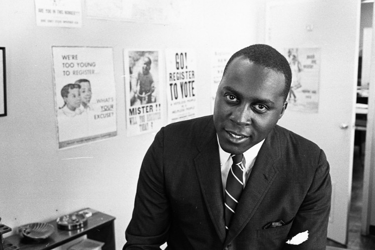 Vernon E. Jordan during his time as president of the National Urban League, an American civil rights group, in an undated photograph.