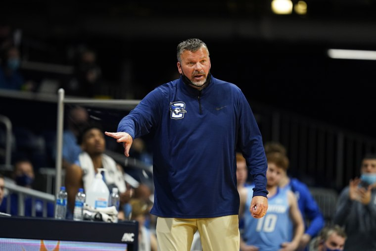 Creighton head coach Greg McDermott in action during the second half of an NCAA college basketball game against Butler on Jan. 16, 2021, in Indianapolis.
