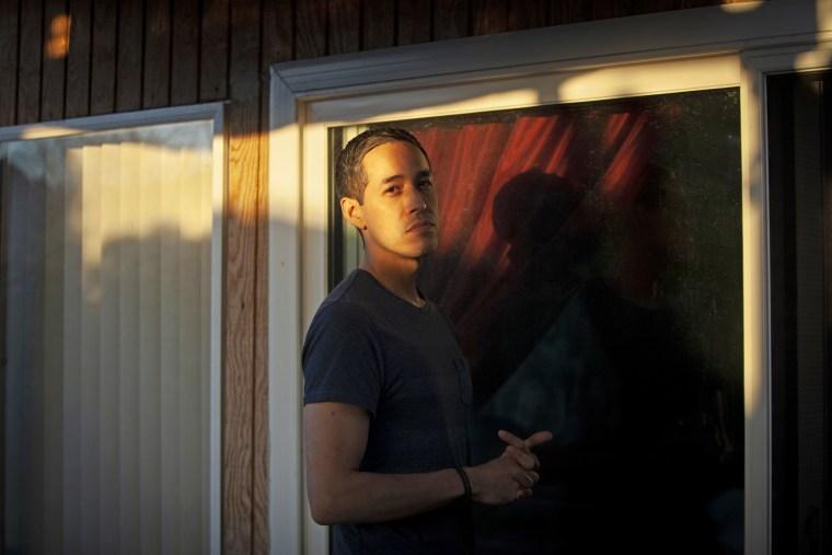 Sergio Alfaro at his stepfather's home in Pomona, Calif.