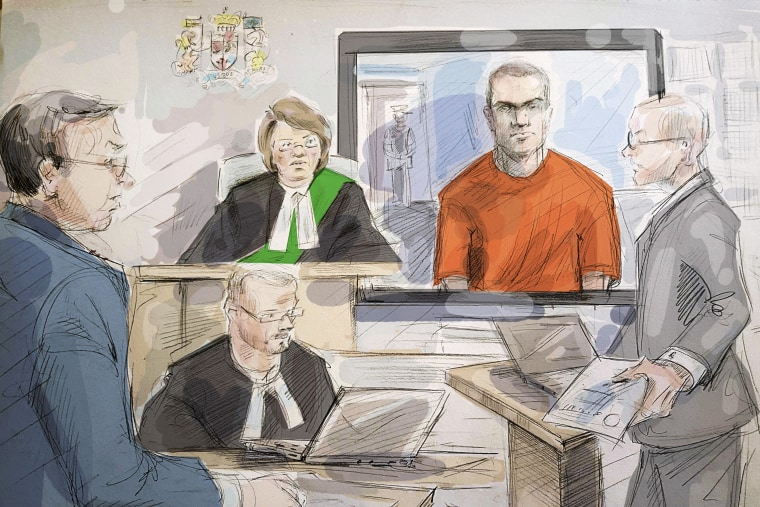 Image: Minassian in courtroom sketch