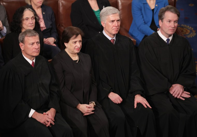 Image: Supreme Court Justices, President Trump Delivers State Of The Union Address To Joint Session Of Congress