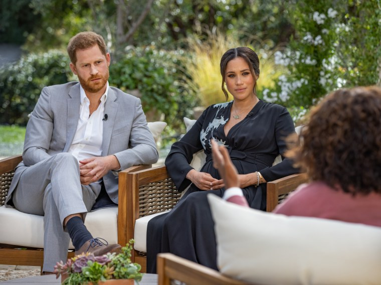 Image: Prince Harry and Meghan interviewed by Oprah Winfrey