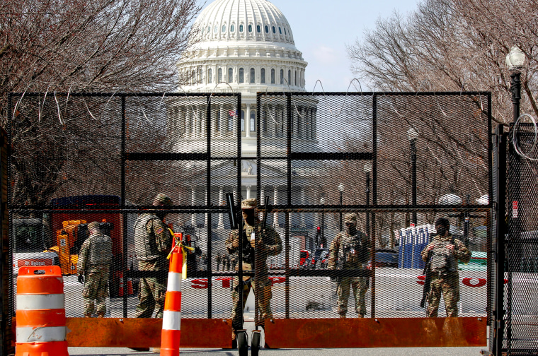 Image: National Guard soldiers stand guard near the U.S. Capitol in Washington