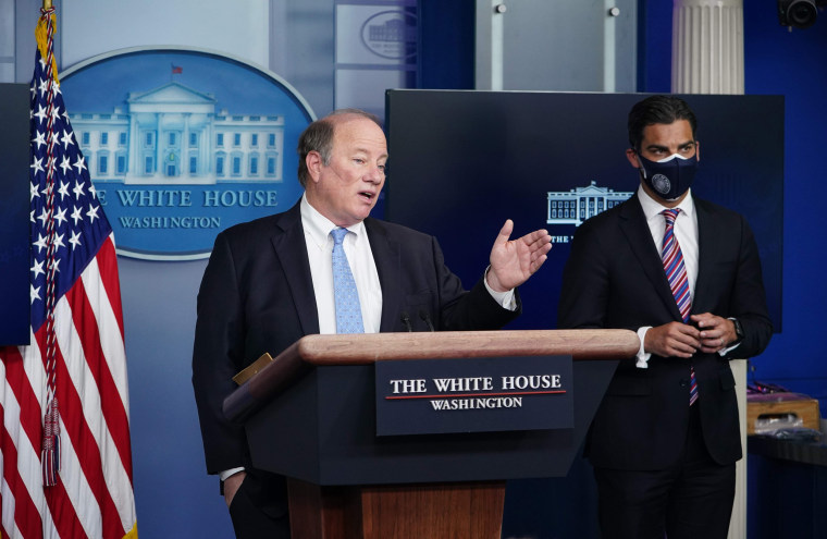 Image: Detroit Mayor Mike Duggan speaks at daily briefing at the white house