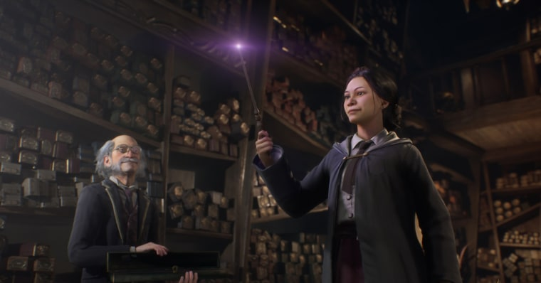 """A scene from the """"Hogwarts Legacy"""" video game."""