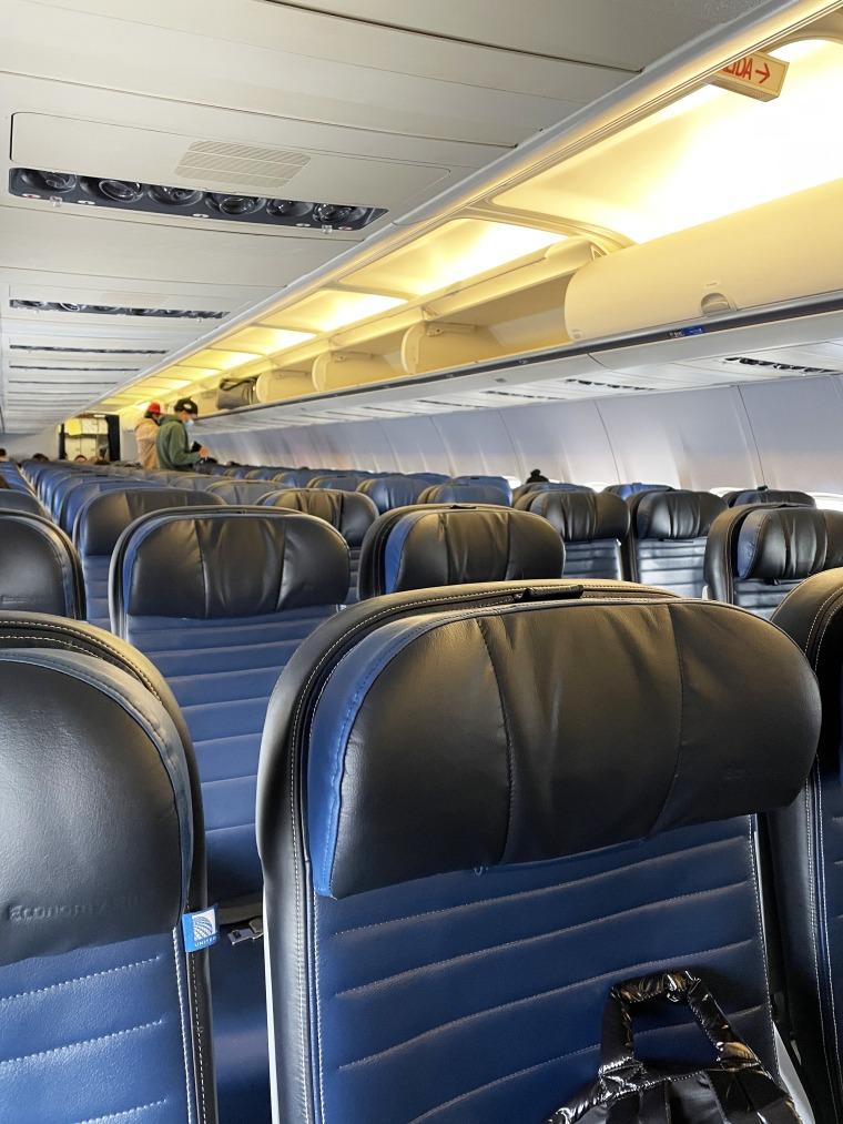 Photo of empty plane seats