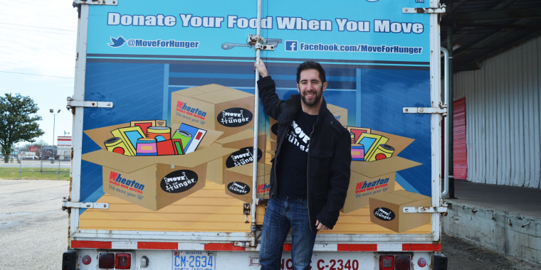 """""""Moving's stressful, you know? It's not a fun experience, there's a lot going on,"""" said founder Adam Lowy. """"And we started by asking a very simple question: 'Do you want to donate your food when you move?'"""""""
