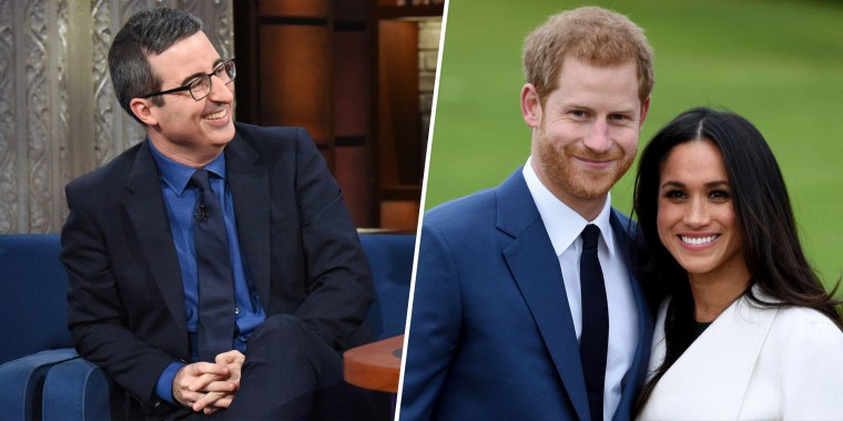 John Oliver, Harry, Meghan